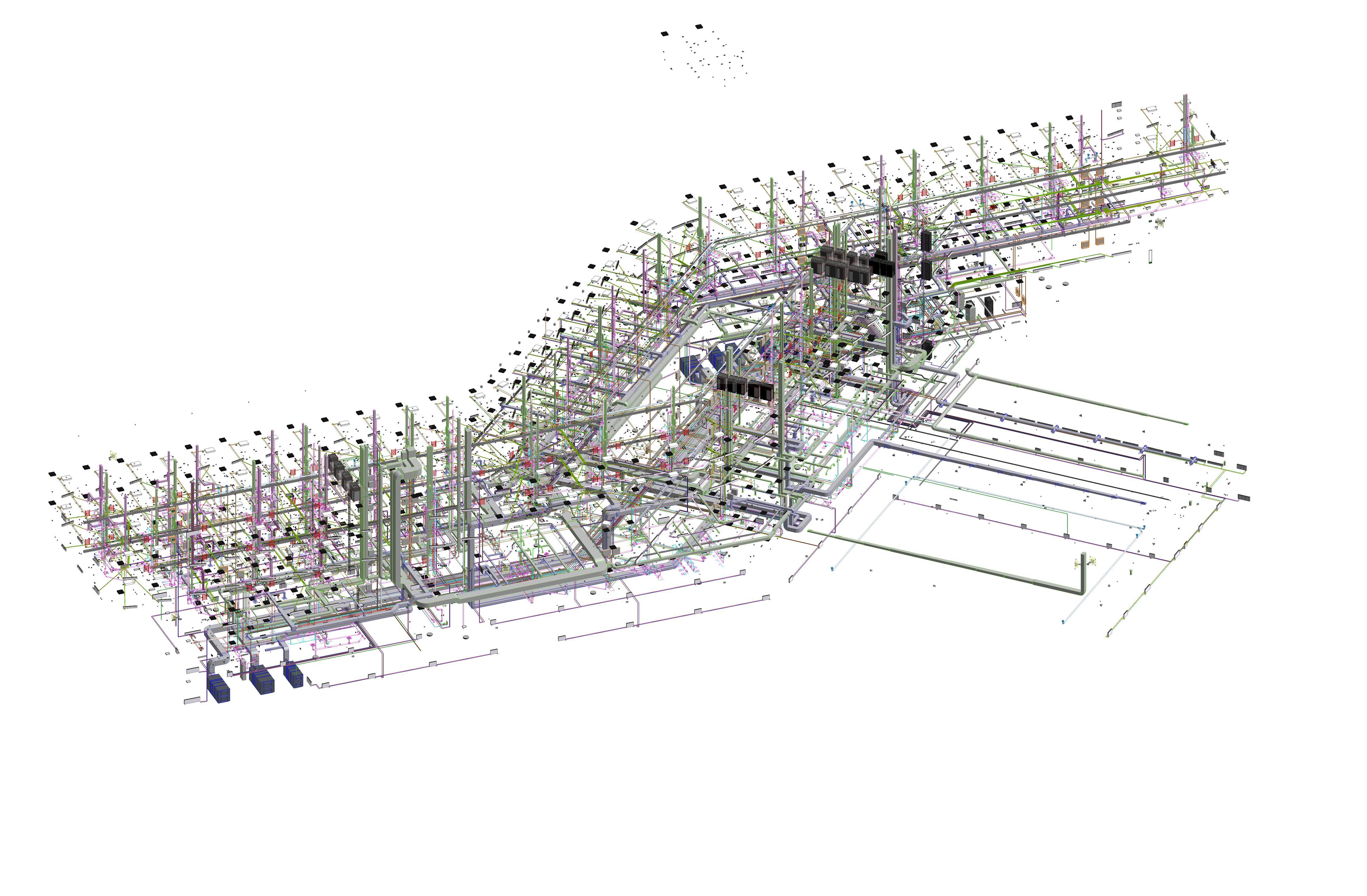 Revit MEP Proje Saina 3D Mimari NU